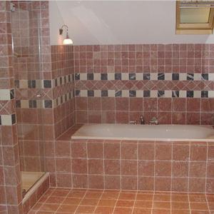 Efesus Stone Marmer Oranje/Rood badkamer