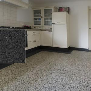 Terrazzo Stone Zwart keuken