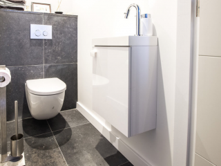 Belgisch Hardsteen Lichtblauw Gezoet Toilet