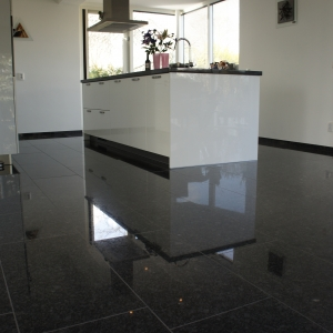 Graniet Silver Grey Gepolijst natuursteen tegels