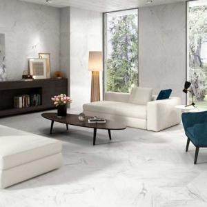 Bianco Carrara Keramiek in de woonkamer