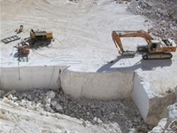 Kalksteen groeve in Africa