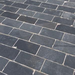 Paving Line Antracite Black. 20x40 cm.