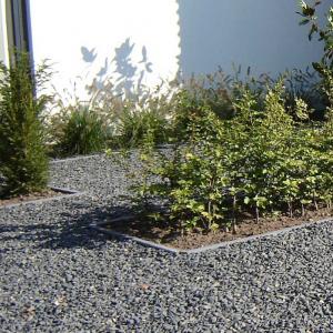 Basalt Split in de tuin