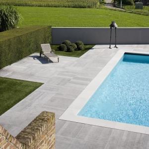Belgisch Hardsteen Raamzaag Gezaagd rondom zwembad