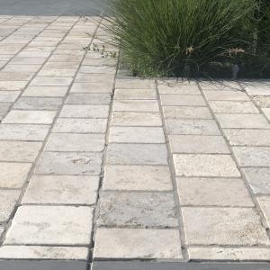 Bontemps Ochers and Grey Cobblestone, 15x15x5 cm terras