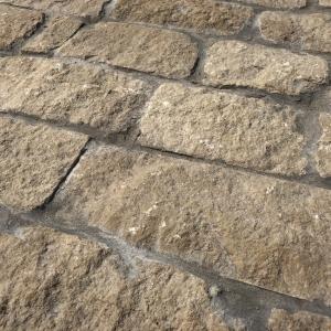 Bontemps Split Cobblestones ruwe steen Grijs gevoegd