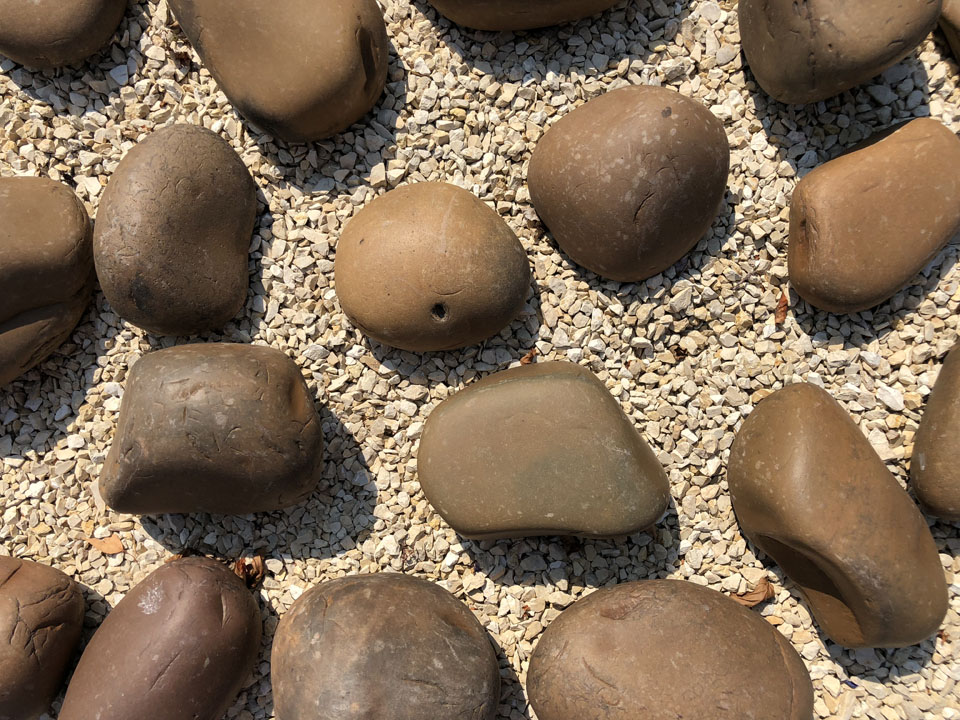 Beach Pebbles Brown - Yellow