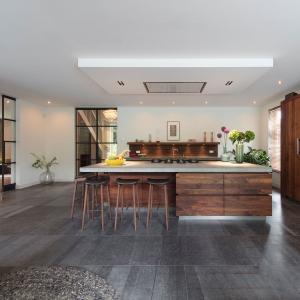 Belgisch Hardsteen Raamzaag Gezaagd Vloertegels in de keuken