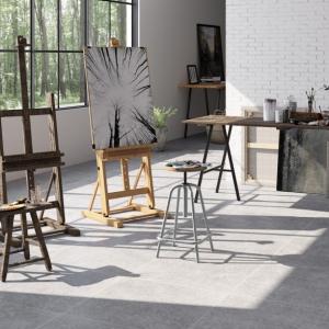 Belgisch Hardsteen Look Grijs Geschuurd atelier.