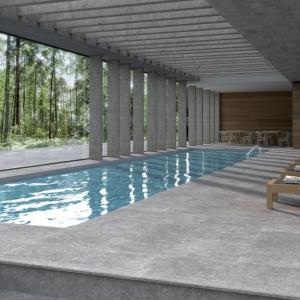 Belgisch Hardsteen Look Grijs Geschuurd Zwembad