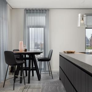 Belgisch Hardsteen aanzag Gezaagd in moderne keuken